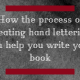 How the process of creating hand lettering can help you write your book