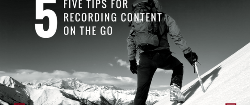 Five tips for recording content on the go so you can write a book in one day